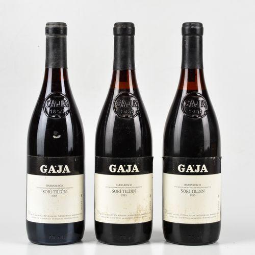 Gaja, Barbaresco Sorì Tildin, (3 Bts) 1983年 1 Bt BN 2 Bts TS