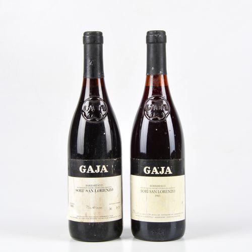 Gaja, Barbaresco Sorì San Lorenzo, (2 Bts) 1981 1 Bt WN 1983 1 Bt WN