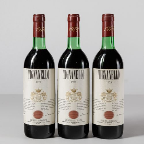 Antinori, Tignanello, (3 Bts) 1978 3 Bts TS
