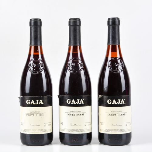 Gaja, Barbaresco Costa Russi, (3 Bts) 1982 3 Bts TS