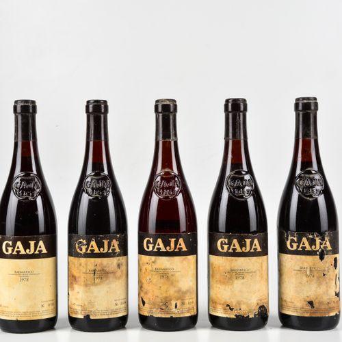 Gaja, Barbaresco, (5 Bts) 1978 5 Bts TS