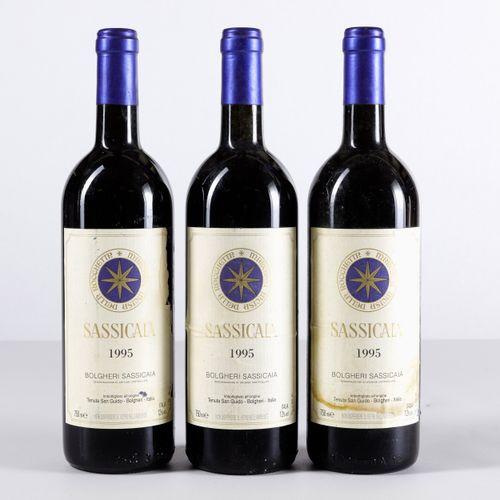 Tenuta San Guido, Sassicaia, (3 Bts) 1995 3 Bts BN