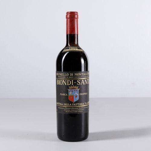 Biondi Santi Tenuta Il Greppo, Brunello di Montalcino, (1 Bt) 1980 1 Bt TS