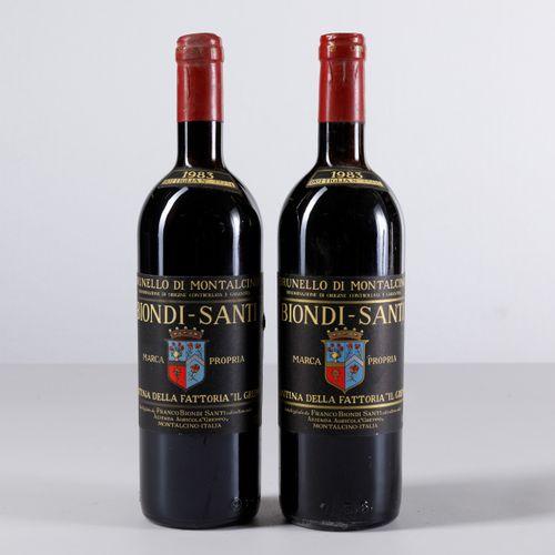 Biondi Santi Tenuta Il Greppo, Brunello di Montalcino, (2 Bts) 1983 2 Bts TS