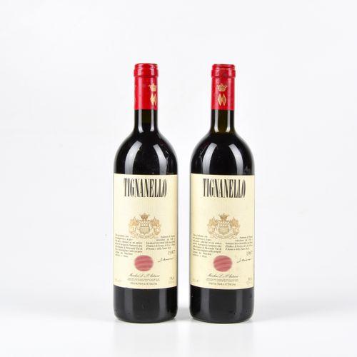 Antinori, Tignanello, (2 Bts) 1987 1 Bt WN 1 Bt BN