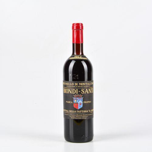 Biondi Santi Tenuta Il Greppo, Brunello di Montalcino, (1 Bt) 1977 1 Bt TS