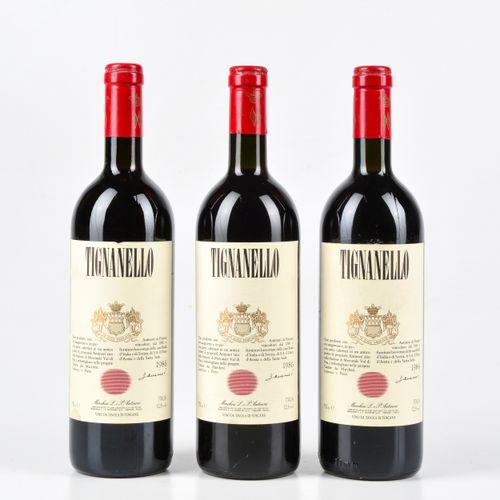 Antinori, Tignanello, (3 Bts) 1986 3 Bts BN