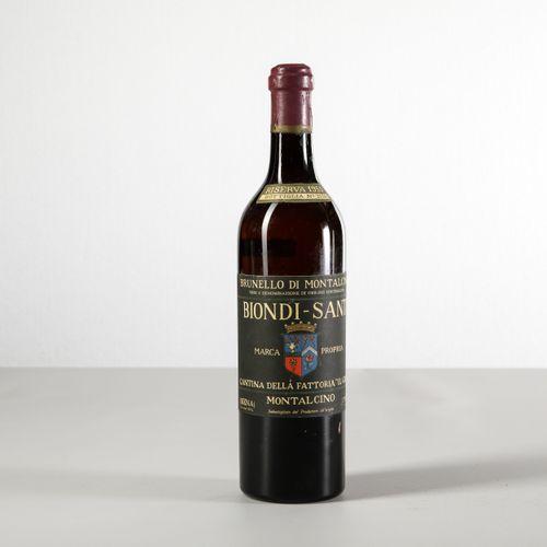Biondi Santi Tenuta Il Greppo, Brunello di Montalcino Riserva, (1 Bt) 1955 1 Bt …