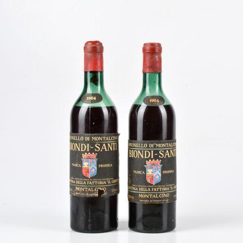 Biondi Santi Tenuta Il Greppo, Brunello di Montalcino, (2 Bts) 1964年 2 Bts S