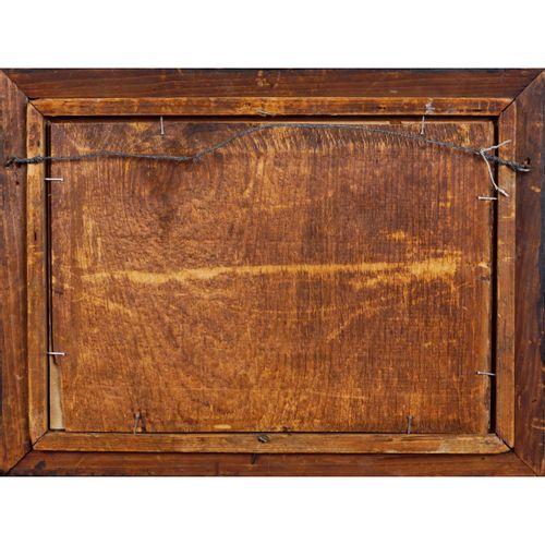 """Roman painter 19th century 17x25 cm. """"Vue du Colisée avec des personnages"""", aqua…"""