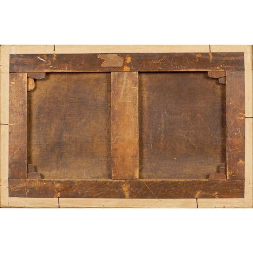 "Roman painter 17th 18th century 32,5x50,5 cm. ""Veduta di ponte Sisto"", huile sur…"