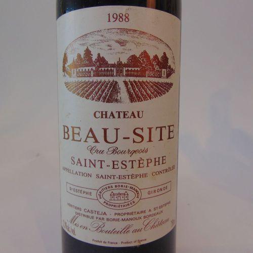 BORDEAUX (SAINT ESTÈPHE) Rouge, Château Beau Site, cru bougeois 1988, dix huit b…