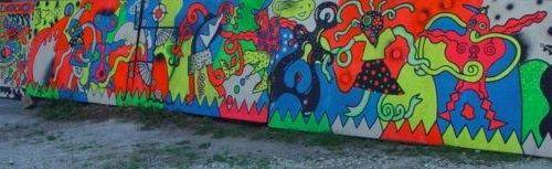 Les frères RIPOULIN (actifs de 1984 à 1988) «Piro Kao», peinture/palissade, circ…