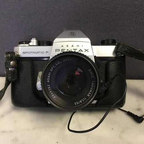 PENTAX ASAHI Spotmatic F camera, with its 1:1.8/55 lens.