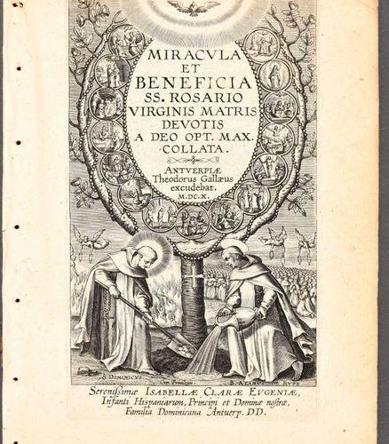 Galle, Theodoor GALLE, Theodoor Miracula et beneficia SS. Rosario Virginis Matri…