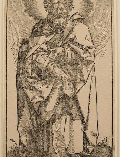 BALDUNG GRIEN, Hans BALDUNG GRIEN, Hans St. Bartolomew. 1519 Gravure sur bois, 2…