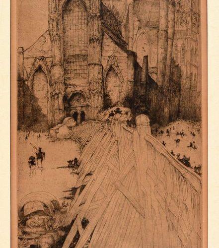 DE BRUYCKER, Jules DE BRUYCKER, Jules The Church of St. Nicholas, Ghent. Etching…