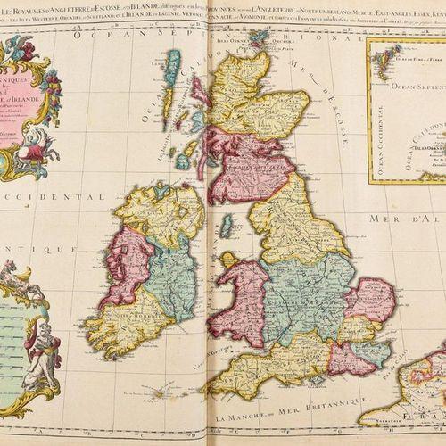 [SANSON d'ABBÉVILLE, Nicolas The Atlas by Sanson. Amsterdam P. Mortier; M. Hugue…