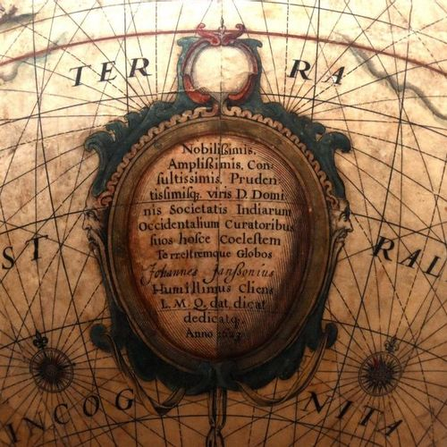 Goos, Abraham HONDIUS, Jodocus the Younger A large pair of library globes, terre…