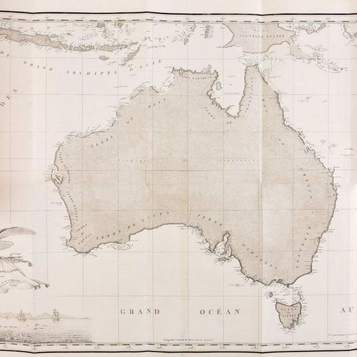 PÉRON, François [ FREYCINET, Louis] Voyage of discovery to the southern lands, c…