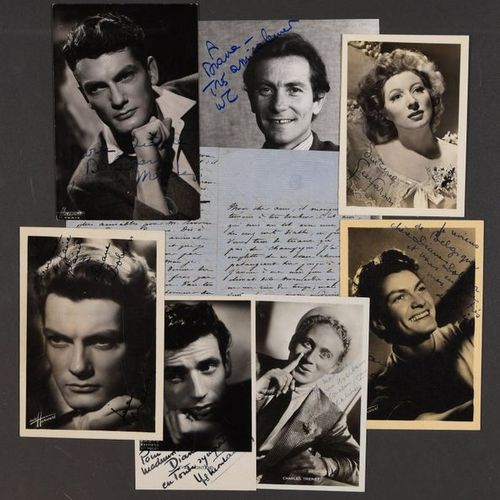 Collection of autograph or typewritten letters with autograph signature assemble…