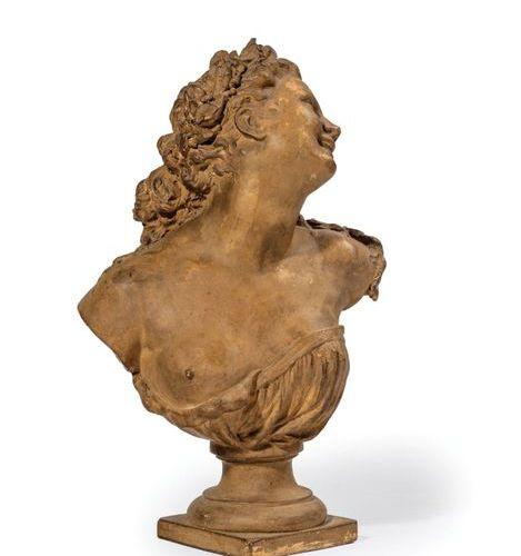 Jean Baptiste CARPEAUX (1827 1875).  Laurel Bacchante  Edition bust by Susse Frè…