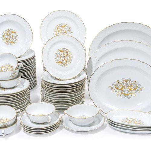 Limoges BERNARDAUD Model Louis XIII. Table service part in polychrome porcelain…