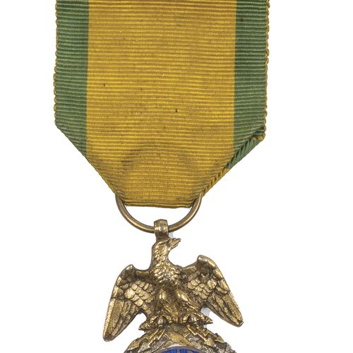 Second Empire. Military medal second type. T.B.E. With good ribbon.
