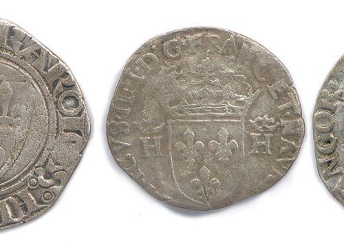 ROYAUME DE FRANCE  Lot de QUATRE monnaies médiévales en argent: denier de Phili…