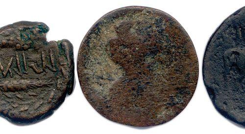 Lot de CINQ bronzes de Numidie:  Royaume des Massyles de l'Ouest 108 48 (Hiarba…