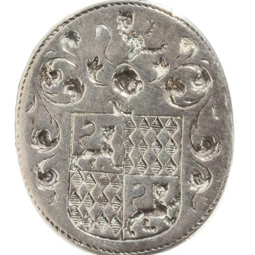 Cachet à cire ou sceau à cacheter en argent,la prise ornée par deux bustes d'Em…