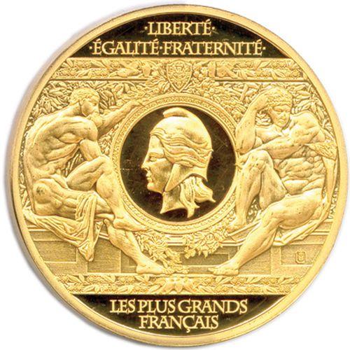 Médaille commémorative en bronze doré (15,25 g) de la série «les plus grands fr…