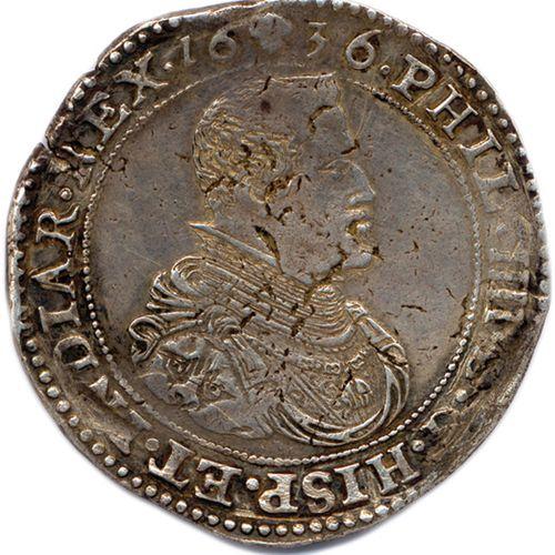 BELGIQUE BRABANT PHILIPPE IV d'Espagne 1621 1665  Son buste cuirassé. Au dessus,…