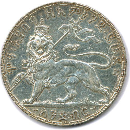 ÉTHIOPIE MÉNÉLIK Empereur 1889 1913  Légendes en caractères éthiopiens avers et …