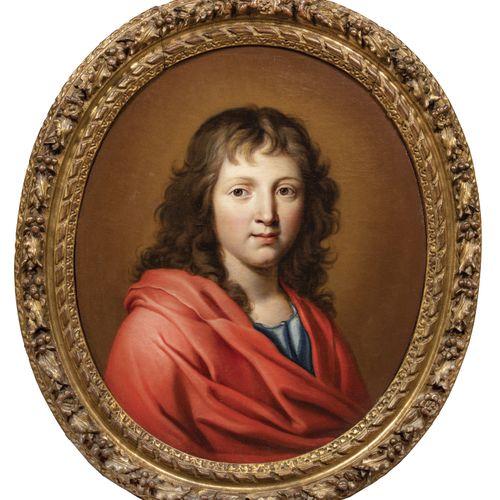 Ecole Française du XVIIème siècle. Entourage de Pierre MIGNARD.  Portrait de jeu…
