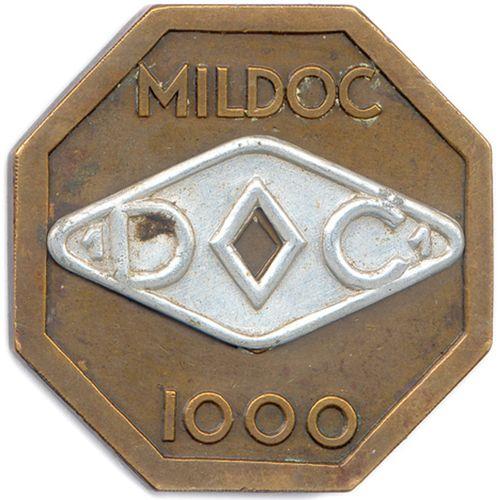 Médaille octogonale en bronze de Pierre Turin non datée (1934) «l'Enfance». Tê…