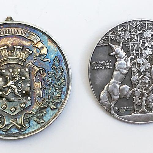 Gray Tir régional de Franche Comté. Francs Tireurs Comtois.  Médaille en argent.…