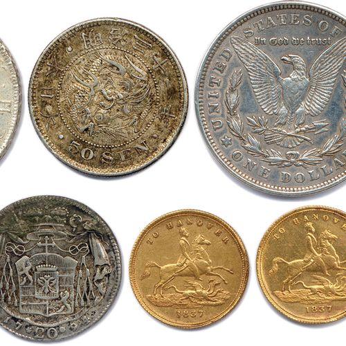CINQ monnaies étrangères en argent: 500 Schilling d'Autriche pour le centenaire…