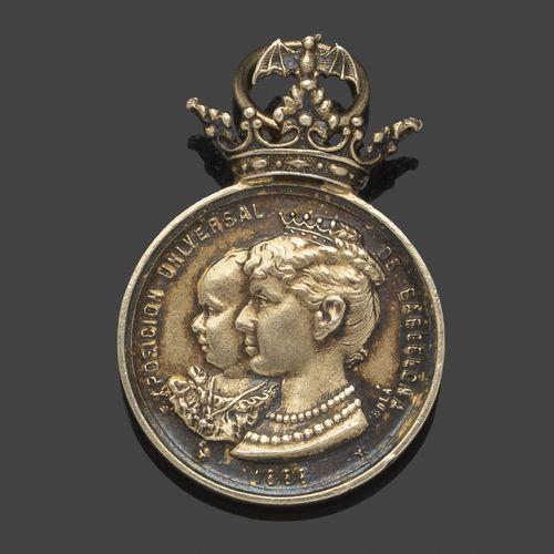 Espagne  Médaille en argent pour l'Exposition Universelle de Barcelone, 1888. Ma…