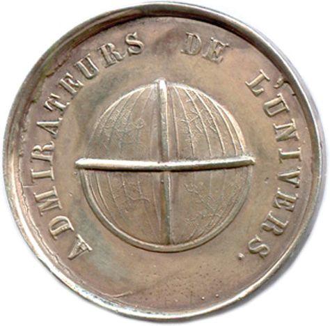 LES ADMIRATEURS DE L'UNIVERS 1826  Légende : ADMIRATEURS DE L'UNIVERS. Globe. R/…