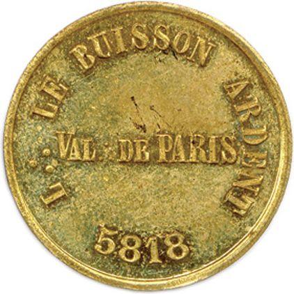 LE BUISSON ARDENT  Légende : L ∴ LE BUISSON ARDENT / 5818. Au centre : VAL ∴ DE …