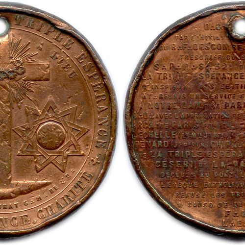 GRAND ORIENT DE FRANCE LOGE DE LA TRIPLE ESPÉRANCE  ÎLE MAURICE PORT LOUIS 1858.…