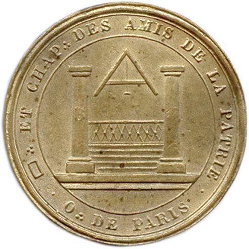 LES AMIS DE LA PATRIE 1818  Un autre exemplaire. Tranche lisse. Labouret 105  Je…