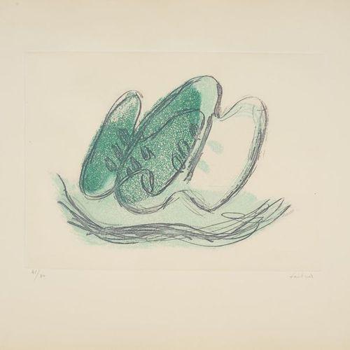 Jean FAUTRIER Jean FAUTRIER (1898 1964) Les Fruits, 1942 Etching in colors on Vé…