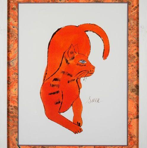 ANDY WARHOL Andy WARHOL (D'après) Cat named Sam Offset lithographie Tampon de la…