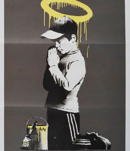 BANKSY BANKSY From Dismaland Don't Panic Poster Forgive us our Trespassing 59.2 …