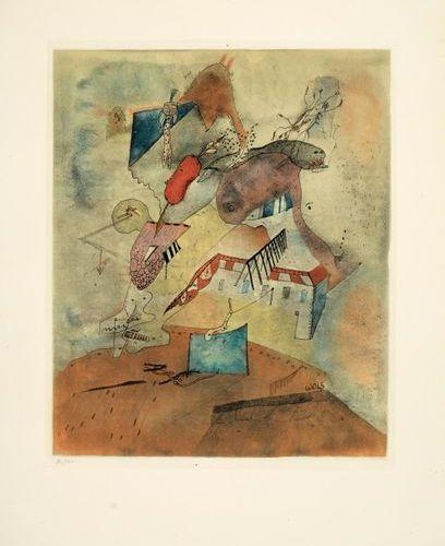 Otto WOLS Otto WOLS (1913 1951) Le Camp les Milles, 1940 Colour etching on Arche…