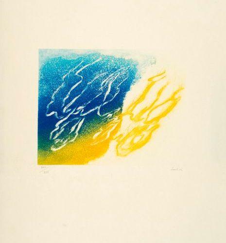 Jean FAUTRIER Jean FAUTRIER (1898 1964) L'orage Aquatint en couleurs sur Japon a…