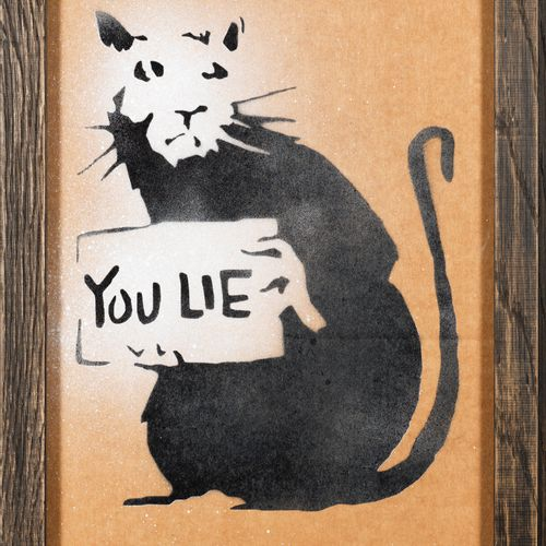 "BANKSY BANKSY (1974) ""You Lie"", Weston Super Mare, 2015 Remembrance of Dismaland…"