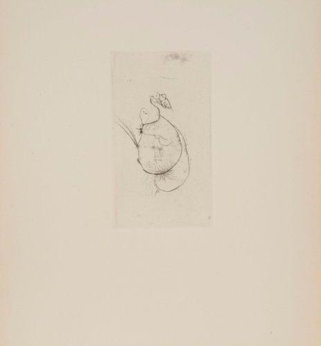 Otto WOLS Otto WOLS (1913 1951) Visages Gravure, tirage supplémentaire 33 x 25 c…
